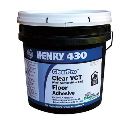 Henry 430 ClearPro Clear VCT Floor Tile Adhesive 4 gal.