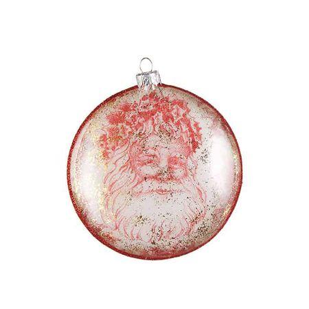 """4"""" Santa Disc Ornament"""