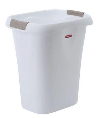 Rubbermaid 21 White Open Top Wastebasket