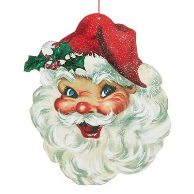 "13.5"" Santa Head Ornament"