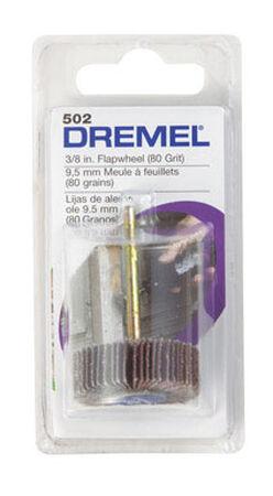 Dremel 3/8 in. Dia. x 1/8 in. Aluminum Oxide Flapwheel Sander 80 Grit
