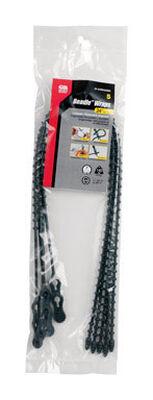 Gardner Bender Beadle Wrap 24 in. L Black Beaded Cable Tie 5 pk