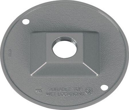 Sigma Round Die cast Aluminum 1 gang Electrical Cover For Light Fixtures Gray