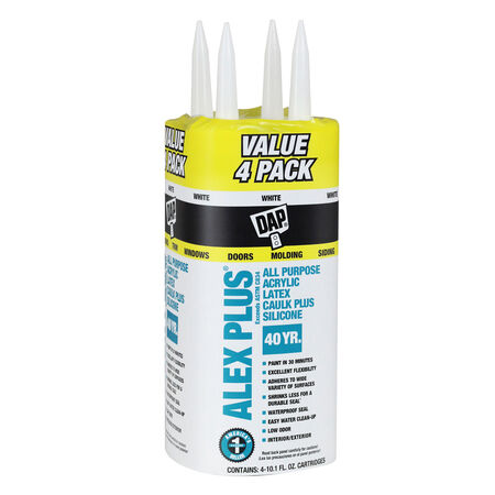 DAP Alex Plus White Acrylic Latex All Purpose Caulk 10.1 oz.