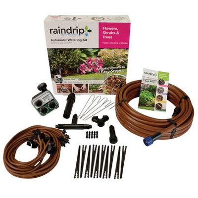 Raindrip Drip Irrigation Tree and Shrub Kit Includes Timer