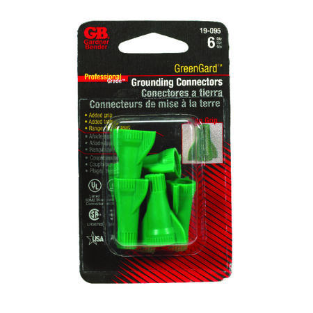 GB Industrial Wire Connector 6 Thermoplastic Green