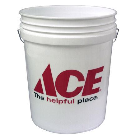 Ace White 5 gal. Plastic Bucket