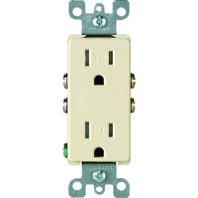 Leviton Decora Electrical Receptacle 15 amps 5-15R 125 volts Ivory