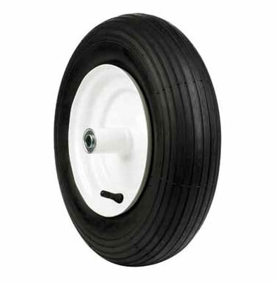 Arnold Wheelbarrow Tire 16 in. Dia. 500 lb. Butyl Rubber
