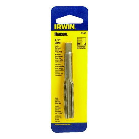 Irwin Hanson High Carbon Steel 1/2 in.-20NF SAE Fraction Tap 1 pc.