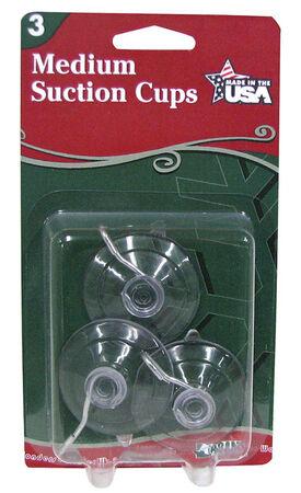 Adams Medium Suction Cup Hooks Clear Rubber 3 pk