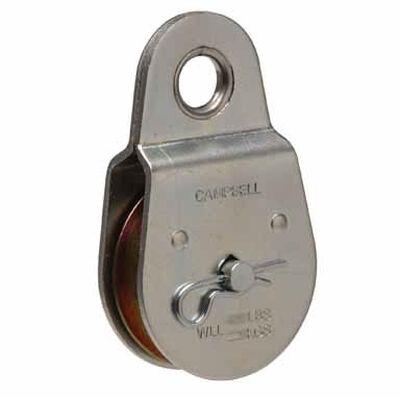 Campbell Chain Single Sheave Rigid Eye Pulley 2 in. Rigid 480 lb. Steel