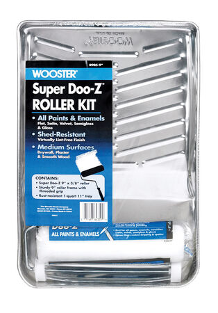 Wooster super doo-z Paint Roller Kit Threaded End 9 in. L x 9 in. W 3 pc.