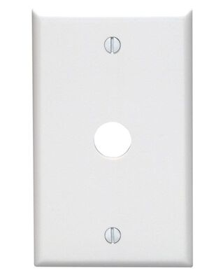 Leviton 1 gang White Thermoset Plastic Cable/Telco Wall Plate 1 pk