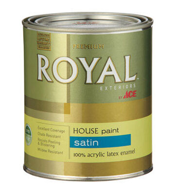 Ace Royal Acrylic Latex House & Trim Paint & Primer Satin 1 qt. High Hiding White