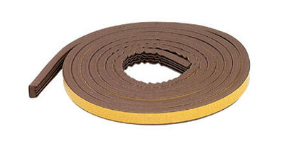 M-D Building Products Extreme Temperature Rubber 10 ft. L x 5/16 in. Weather Stripping Brown