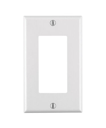 Leviton 1 gang White Thermoset Plastic Decora Rocker Wall Plate 1 pk