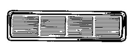 Air Vent Brown Aluminum Under Eave Vent Type Undereave Vent