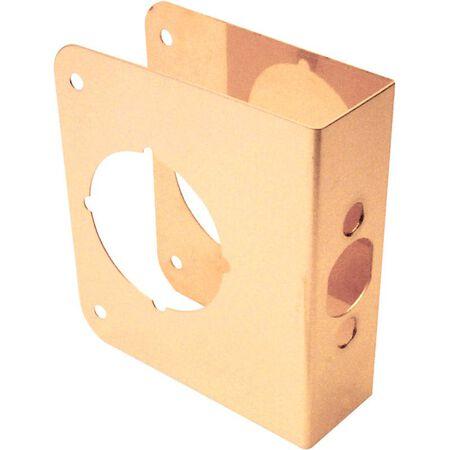 Prime-Line Lock and Door Reinforcer 4.5 in. H x 3.9 in. L Brass