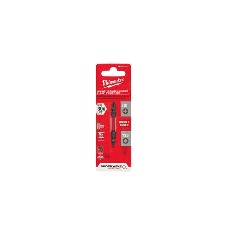Milwaukee SHOCKWAVE Phillips/Torx PH2/T25 x 2-3/8 in. L Impact Double-Ended Power Bit Steel 1