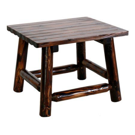 "Wooden Dark Brown End Table Wood 24"" x 20"" x 18"""
