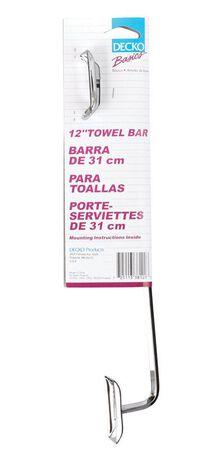 Decko Diamond Chrome Towel Bar 12 in. L Chrome
