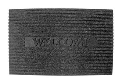 J&M Home Fashions Gray Rubber Nonslip Floor Mat 30 in. L x 18 in. W