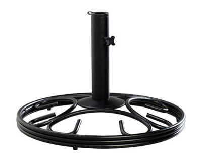 Living Accents Cast Iron Umbrella Base 13 in. H x 19-1/2 in. W Black