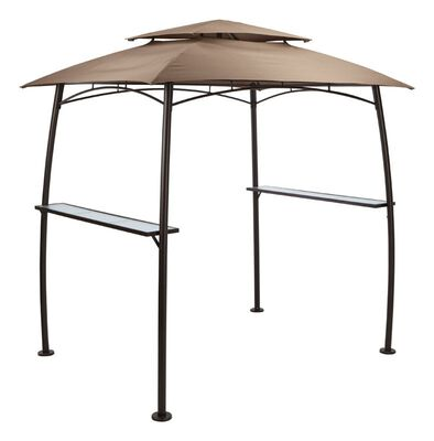Living Accents Gray Polyester BBQ Shelter w/Single Light 94 in. H x 65 in. W x 85 in. L