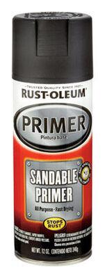 Rust-Oleum Black Flat Automotive Sandable Primer Spray 12 oz.