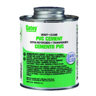 Oatey Heavy Duty Clear PVC Cement 16 oz.