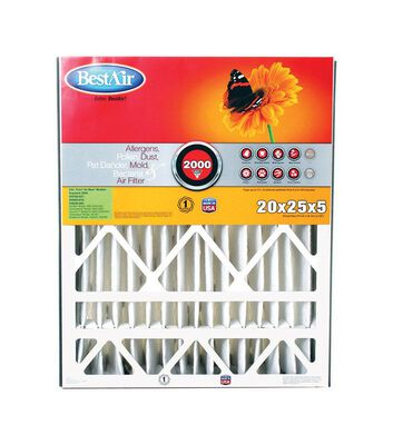 BestAir 25 in. L x 20 in. W x 5 in. D Pleated Air Filter 11 MERV