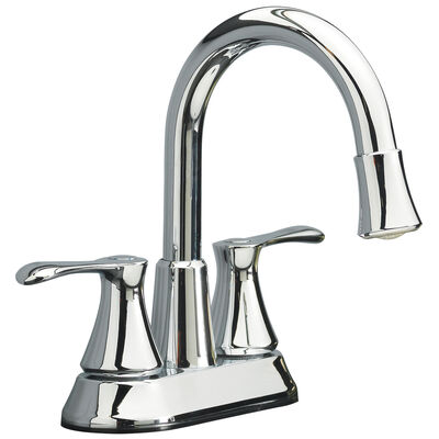 OakBrook Doria Two Handle LED High Arc Lavatory Pop-Up Faucet 4 in. Brushed Nickel 1.2 gpm