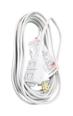 Ace Indoor Extension Cord 16/2 SPT-2 20 ft. L White