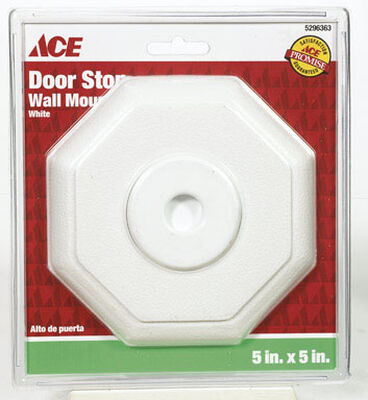 Ace Rubber Wall Door Stop 5 in. H x 5 in. W White