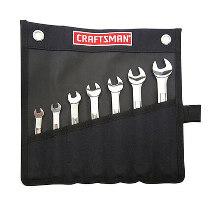 Craftsman 12 Point Metric Wrench Set Steel 7 pc.