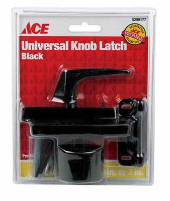 Ace Interior/Exterior Steel Black Universal Knob Latch