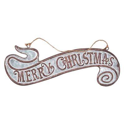 "16.5"" Merry Christmas Banner Ornament"
