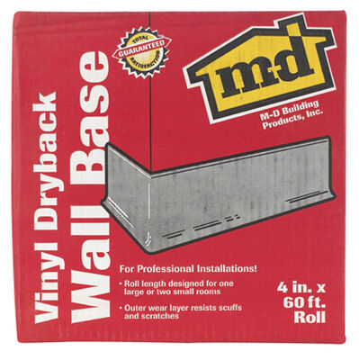 M-D Building Products Coved Wall Base Vinyl 4 in. H x 60 ft. W Black