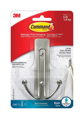3M COMMAND Large ADHESIVE STRIPS Hook 4.03 in. L PLASTIC 4 lb. 1 pk