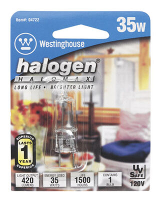 Westinghouse Halogen Light Bulb 35 watts 380 lumens JC T4 1.7 in. L White 1 pk