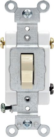 Leviton Commercial 15 amps Toggle 3-Way Switch Single Pole