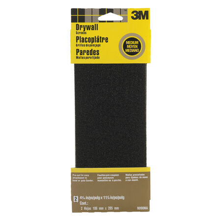 3M 11-1/4 in. L x 4-3/16 in. W 100 Grit Silicon Carbide Drywall Sanding Screen 2 pk