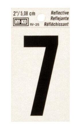 Hy-Ko Self-Adhesive Black Reflective Vinyl Number 7 2 in.