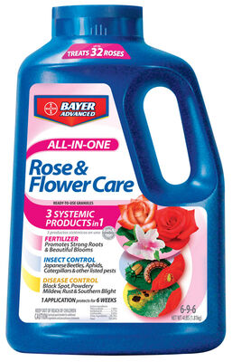 Bayer Advanced All-in-One Rose & Flower Care Plant Food For Ornamental Plants 4 lb.