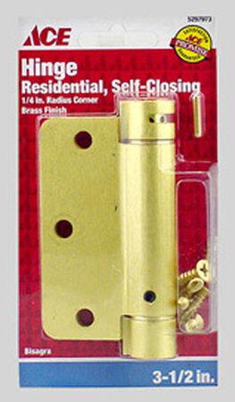 Ace Brass Residential Hinge 3.5 in. Dia. x 3.5 in. L x 3.5 in. L Satin Brass 1 pk
