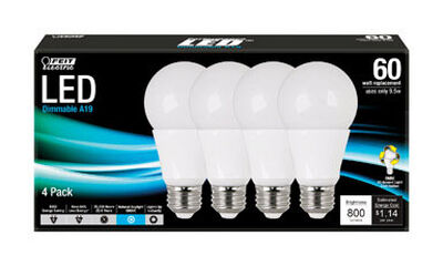 FEIT Electric LED Bulb 9.5 watts 800 lumens 5000 K Medium Base (E26) A19 A-Line 60 watts equiva