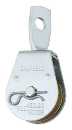 Campbell Chain Single Sheave Swivel Eye Pulley 1-1/2 in. Swivel 420 lb.