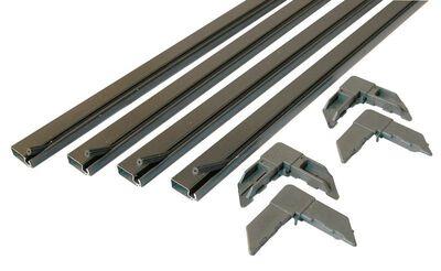 Prime-Line Up to 60 x 60 Frame Screen Frame Kit 3/4 in. W x 3/4 in. L Bronze Aluminum