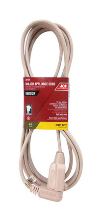 Ace 14/3 SPT - 3 Appliance Cord 9 ft. L Beige